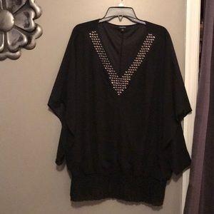 Torrid flattering embellished neck blouse